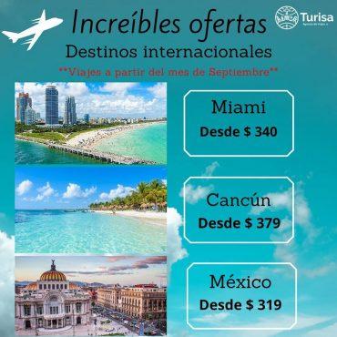 Increíbles Oferas Miami, Cancún y México